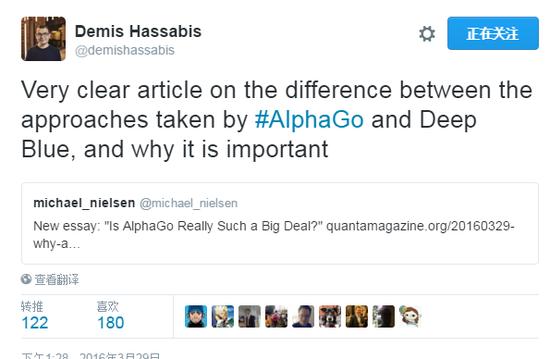 哈萨比斯推特截图