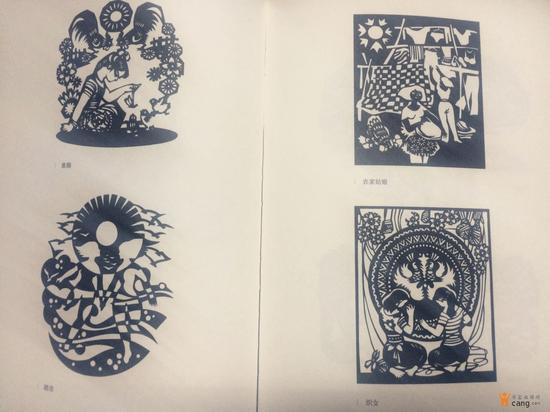 右边是一幅剪纸画