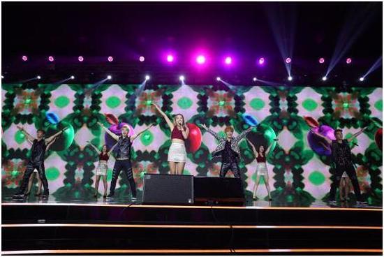 韩国偶像组合表演