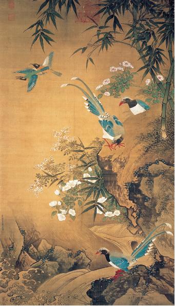 署名萧瀜的《花鸟图》