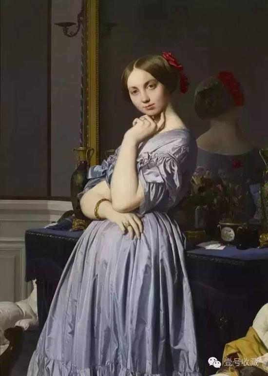 1845年作品《奥松维里伯爵夫人肖像》