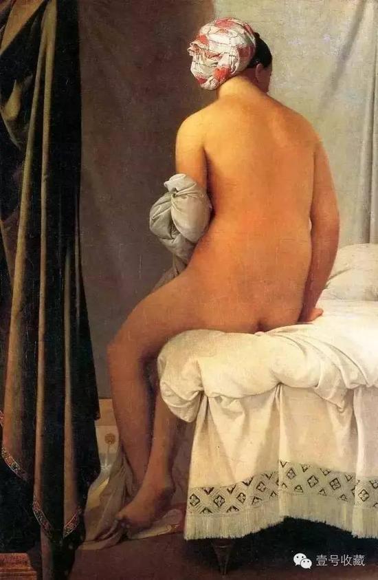 《瓦平松的浴女》油彩 34*22.8 cm,美国剑桥哈佛大学费哥美术馆藏