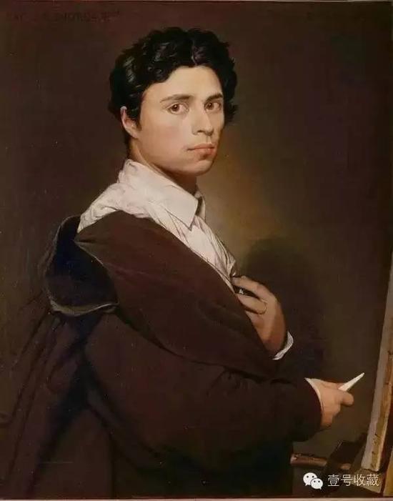 安格尔1804年油画《自画像》