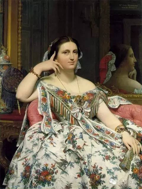 静坐的墨瓦特雪夫人 1856