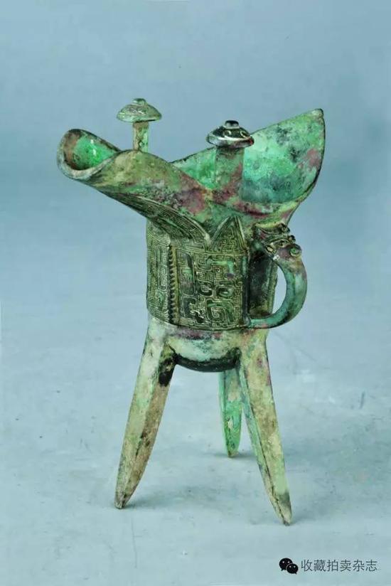 饕餮雷纹铜爵,南京博物院藏,商代
