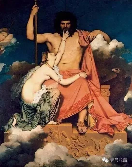 《朱庇特和泰提斯》布面油彩 327cm*260cm 普罗旺斯格拉内博物馆藏
