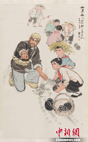 单应桂于1973年创作的《如果敌人从那边来》。