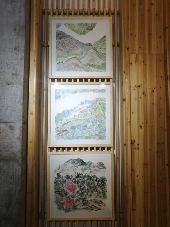 桐溪小婵《花家地系列》纸本水墨40cmX40cm