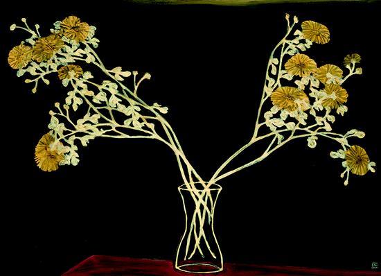 常玉 《瓶菊》 1950 年作