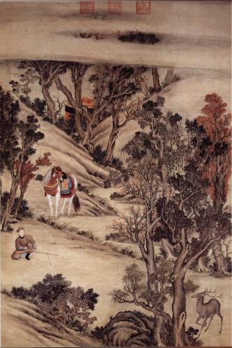 佚名《射鹿图》,   北京故宫博物院藏品