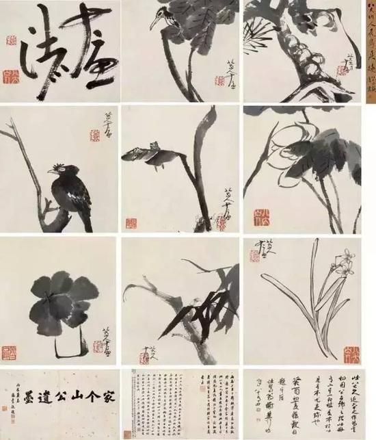《书画合璧册》(九开), 2011年北京翰海春拍,成交价6325万元。