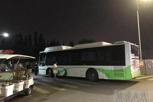 14岁少年擅自驾驶公交 撞伤一名女大学生(图)