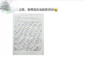 广西一小学生再现神作文求老师给20分 网友:6翻了