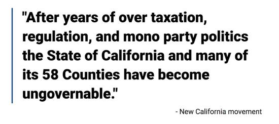图2 高税负和一党独大专权已经让加州失控,来源:新加州运动网站