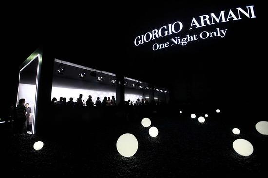 GIORGIO ARMANI ONE NIGHT ONLY BEIJING 2012