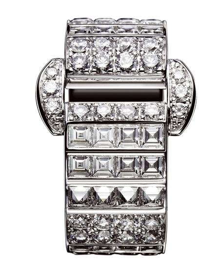 伯爵Miss Protocole 18K白金鑽石指環