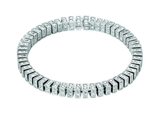 伯爵 Limelight 18K 白金鑽石手鏈