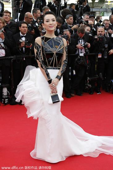 第67届戛纳电影节开幕红毯.章子怡漫威经济带来的收入电影图片