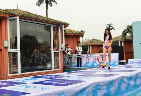 国际美模大赛乐山秀水上比基尼
