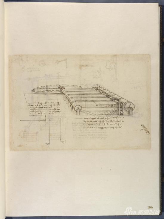 编织机手绘图,摘自《大西洋古抄本》