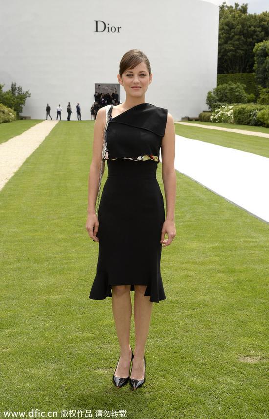玛利亚-歌迪昂出席2014 秋冬Dior高定大秀