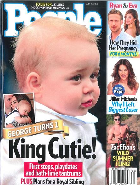 英国乔治小王子出访照片登《人物》杂志封面