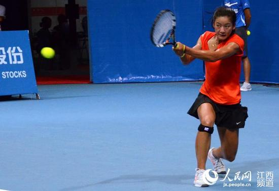 江西国际女子网球公开赛:九江姑娘出局