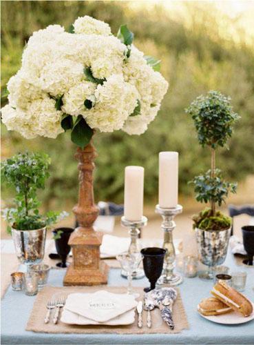 欧式户外婚礼餐盘