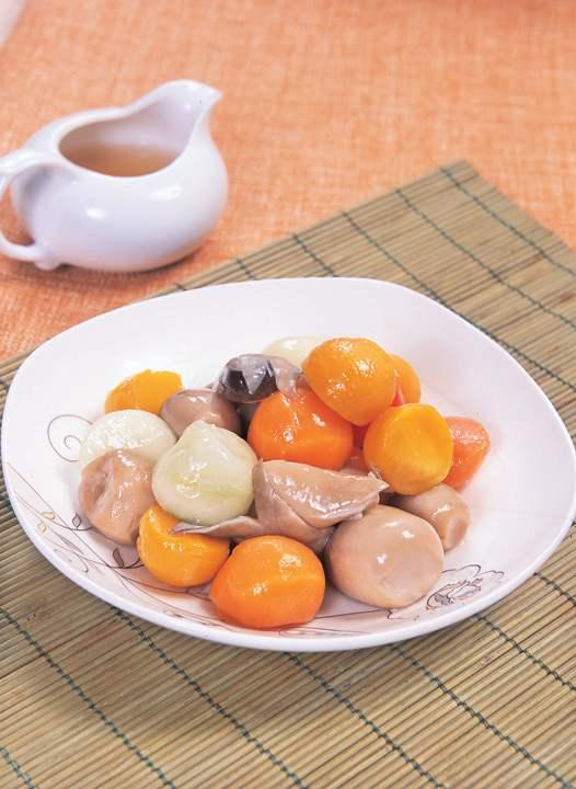 峨眉山斋菜:普贤烧三圆