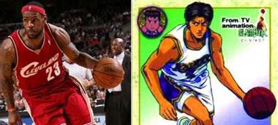 盘点NBA球星中灌篮高手的原型图片