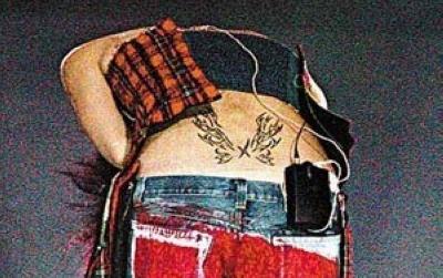 王菲的火焰纹身图片