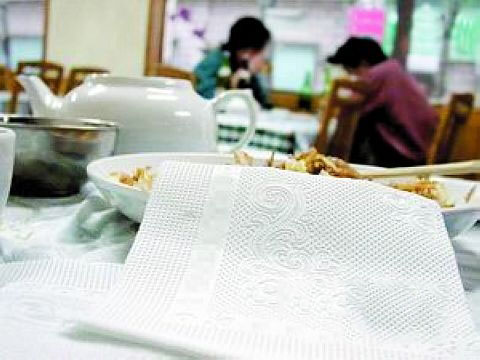 卫生纸当餐巾纸用或感染病菌