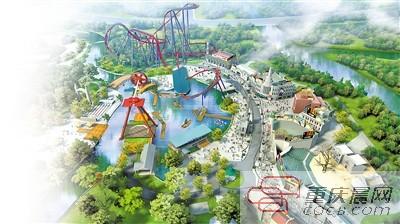 欢乐谷与玛雅水公园效果图。 重庆北部新区宣传部供图