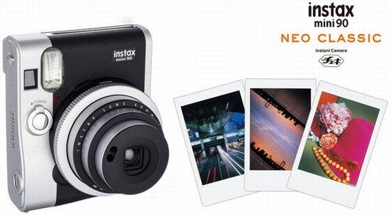 富士(Fujifilm)拍立得相机黑色复古礼盒套装