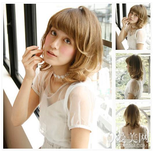 栗色发色高冷清新,内扣设计后更显时尚感.