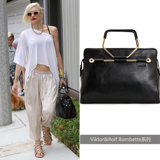 Gwen Stefani演绎黑色款Viktor&Rolf手袋
