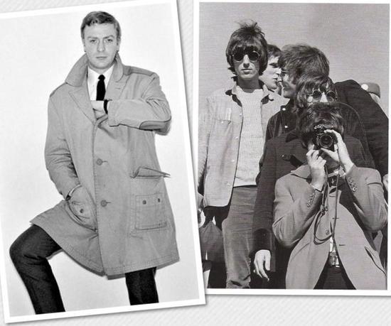 60年代的时尚ICON从左至右:THE BEATLES、MICHAEL CAINE