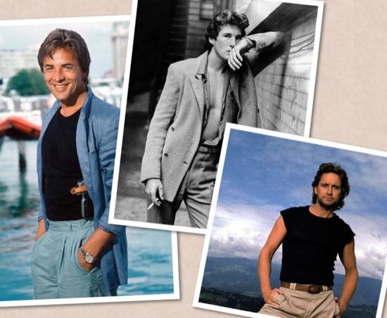 80年代的时尚Icon:DON JOHNSON、RICHARD DOUGLAGERE、MICHAEL