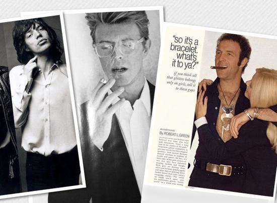 70年代的时尚Icon:MICK JAGGER、DAVID BOWIE、BURT REYNOLDS