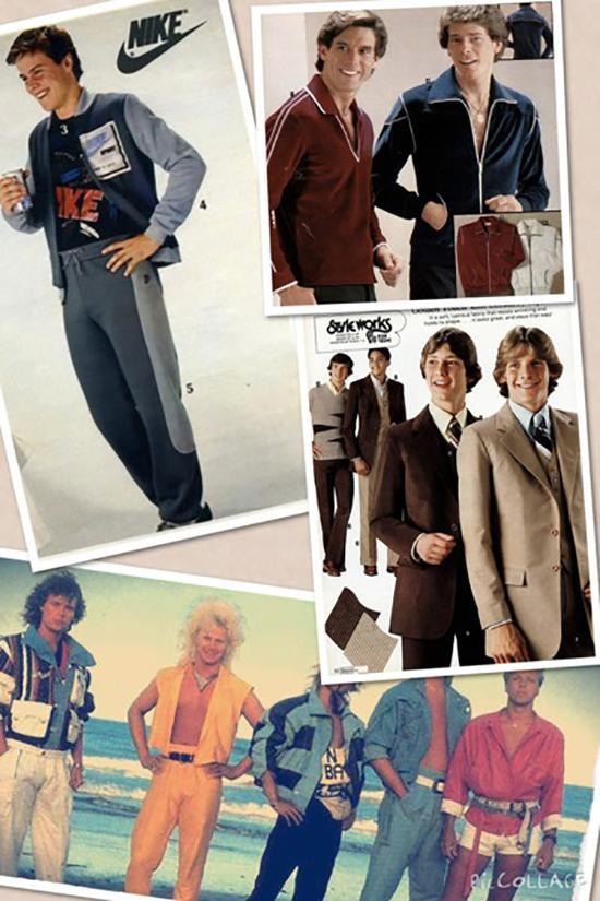 80年代的男士时装海报