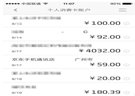 信用卡电子账单手机截图(图片来自手机截图)
