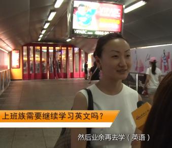 街头调查英语学习方式