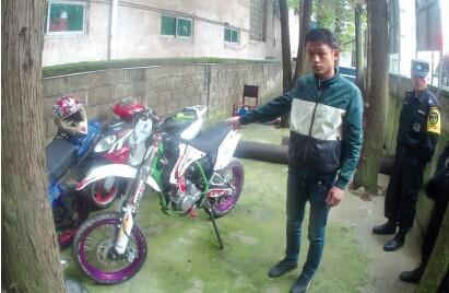 被警方查获的改装摩托车