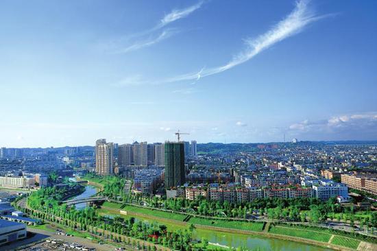 资阳城市面貌日新月异。
