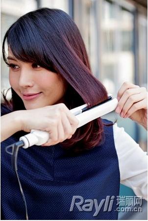 偏分锁骨发打造利落职业感|锁骨|中长发|发型diy_新浪