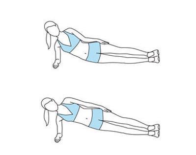 六、侧身屈肘下压