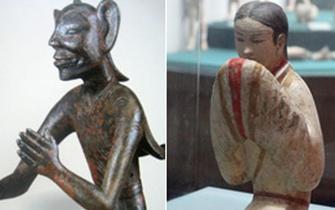 陕文物西汉铜羽人酷似阿凡达