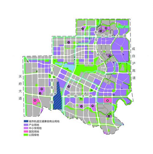 天府新区核心区详规公布 中和中片区中心西移图片