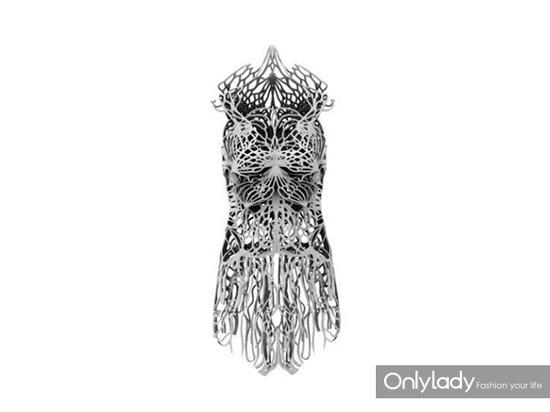 3D打印机设计的3D印花连衣裙