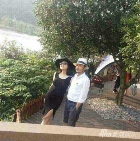 杨乐乐怀孕六月首曝露面